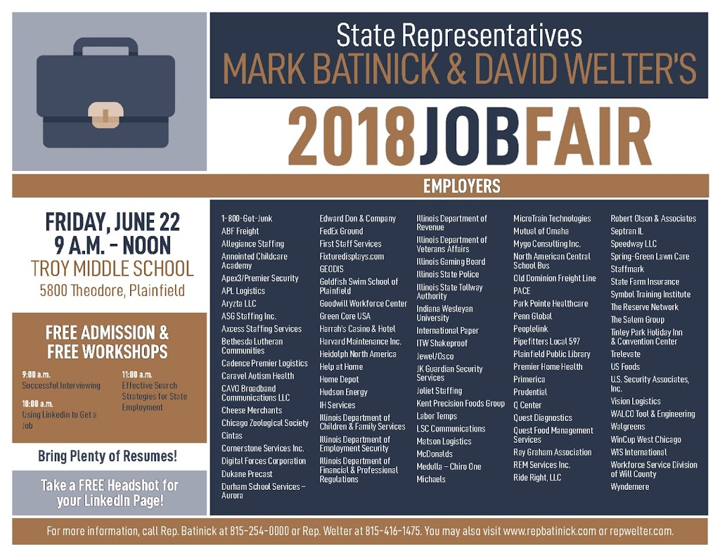 Find Your Next Career Opportunity At Rep Welter S Job Fair June 22